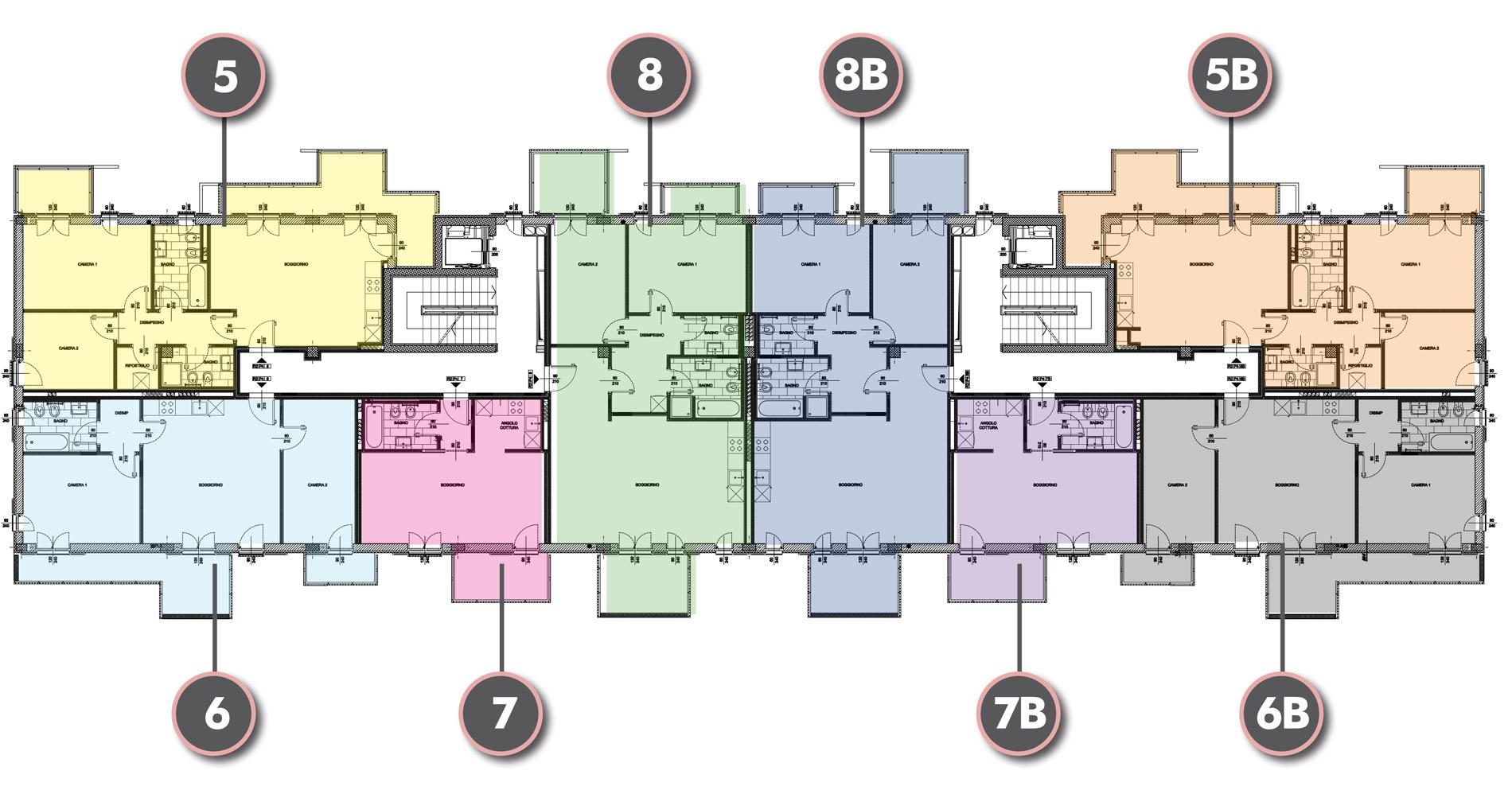 Edificio R2 - Piano Quarto