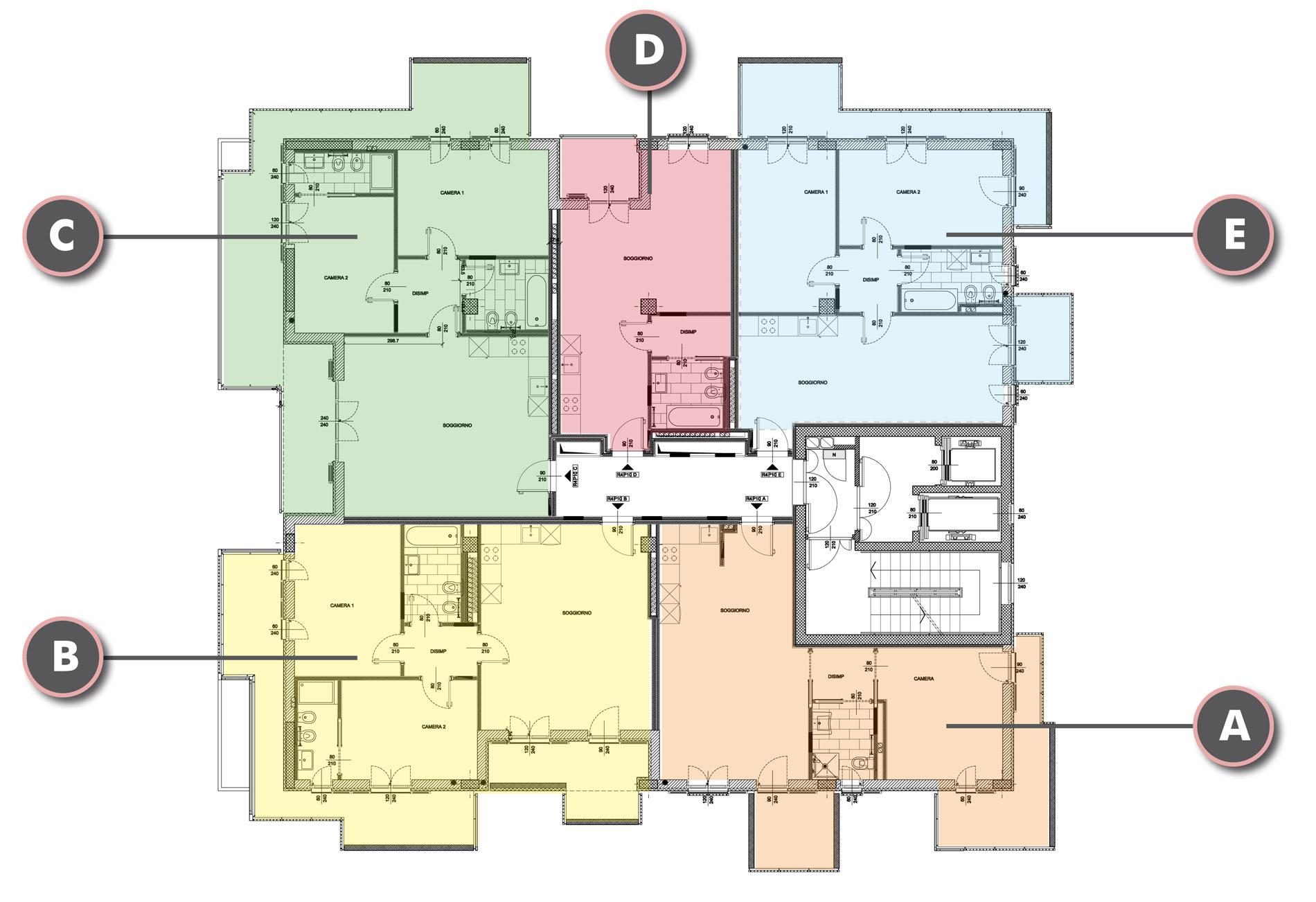 Edificio R4 - Piano Decimo