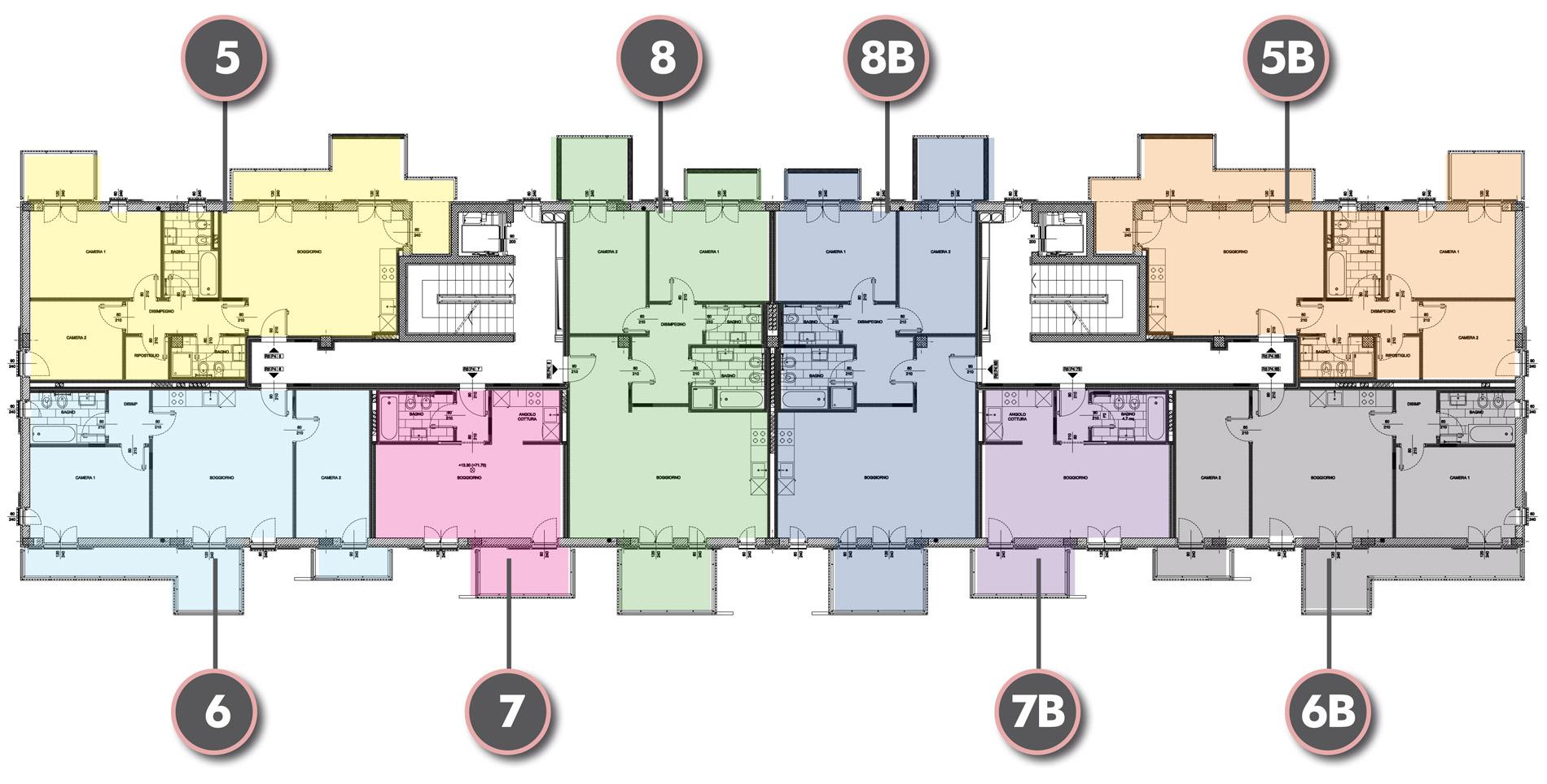 Edificio R1 - Piano Attico